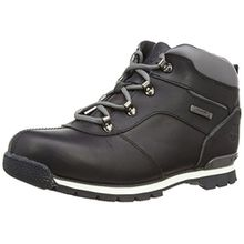 Timberland Euro Hiker_Euro Hiker_Splitrock 2, Unisex-Kinder Kurzschaft Stiefel, Schwarz (Black Smooth with Grey), 37 EU