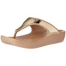 crocs Damen Sloane Embellished Sandalen Flipflops, Gold (Metallic), 34/35 EU