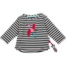 SIGIKID Langarmshirt für Mädche aqua / pink / rot / schwarz / weiß