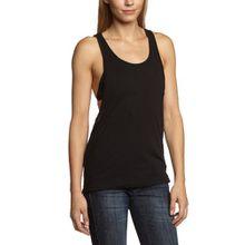 Urban Classics TB358 Damen Sport T-Shirt Ladies Loose Tanktop schwarz (Black) X-Small