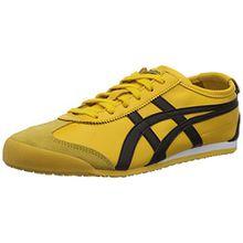 Onitsuka Tiger Mexico 66, Unisex-Erwachsene Low-Top Sneaker, Gelb (Yellow/Black), 43.5 EU