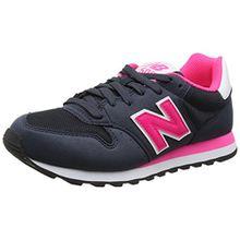 New Balance Damen 500 Sneakers, Mehrfarbig (Navy/Pink), 37 EU