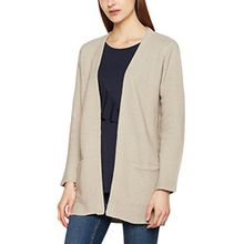 SELECTED FEMME Damen Strickjacke Sfkana L/S Knit Cardigan, Beige (Dove Dove), 38 (Herstellergröße: M)