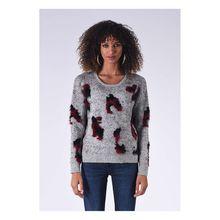 Kaporal Pullover Glade mit Flausch-Effekt Pullover grau Damen