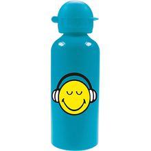 ZAK Alu-Trinkflasche Smiley, blau, 600 ml