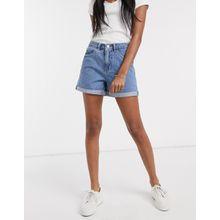 Vero Moda - Blaue Mom-Jeansshorts mit hohem Bund - Blau