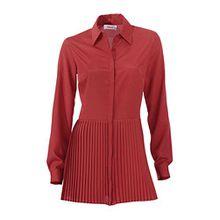 Heine Damen-Bluse Longbluse Rot Größe 40