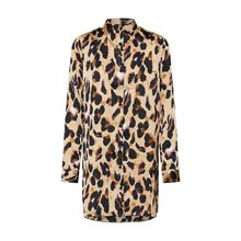 Missguided Blusenkleid SHIRT DRESS LEOPARD PRINT Blusenkleider braun Damen