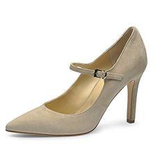Evita Shoes Ilaria Damen Pumps Rauleder Beige 38