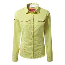 Craghoppers NosiLife Damen Adventure Langarm Bluse mit Insekten Abwehr (14UK/40DE) (Limette)