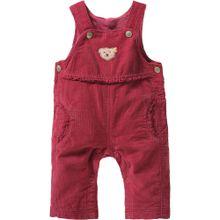 Steiff Collection Baby Latzhose aus Kord für Mädchen pink / rosa
