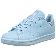 adidas Unisex-Kinder Stan Smith Sneaker, Blau (Ice Blue/Ice Blue/Tactile Blue), 37 1/3 EU