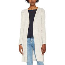 PIECES Damen Strickjacke Pcsamira LS Knit Cardigan, Grau (Whitecap Gray Whitecap Gray), 36 (Herstellergröße:S)