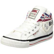 British Knights Unisex-Erwachsene ROCO Hohe Sneaker, Weiß (White/Union Jack), 42 EU