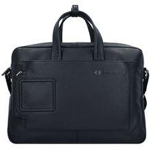 Piquadro Aktenatsche Leder 44 cm Laptopfach schwarz