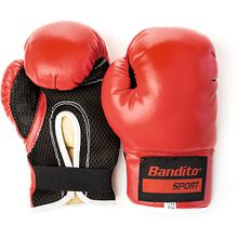 Boxhandschuh Bandito 10 Unzen, Größe M/L schwarz/rot