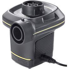 elektrische Pumpe mit 3 Verbindungs-Düsen, Pumpleistung 480 l/min schwarz