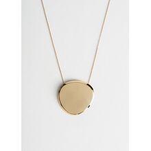 Sculptural Pendant Necklace - Gold