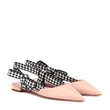 Slingback-Ballerinas aus Lackleder