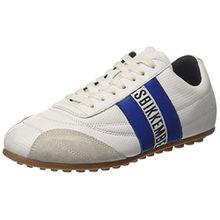 BIKKEMBERGS Unisex-Erwachsene Soccer 106 Low-Top, Bianco (White/Navy Blue), 38 EU