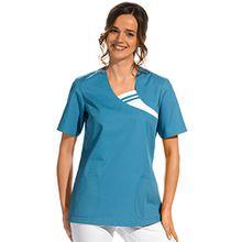clinicfashion 12612035 Schlupfhemd türkis für Damen, Mischgewebe, Größe XXL