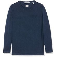 Pepe Jeans Jungen Pullover BOB TEEN Einfarbig, Blau (Sailor),S/14 ans
