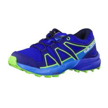 SALOMON Trail Running Schuhe 'Speedcross 392412' blau / grün