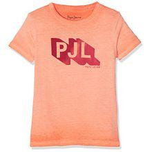 Pepe Jeans Jungen John Jr T-Shirt, Orange (Life Orange), 14 Jahre (Herstellergröße: 14)