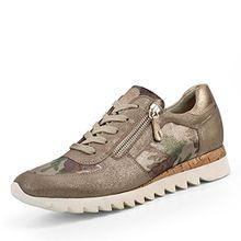 Paul Green Sneaker, Groesse 8, Taupe Metallic