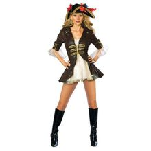 Sexy Piratenlady Kostüm für Damen