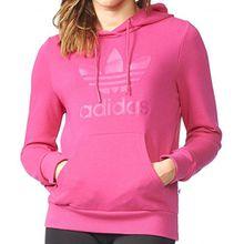 Adidas Sweater Women TRF LOGO HOODIE AY9003 Pink, Size:34