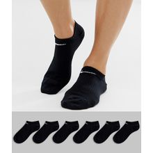 Nike - Schwarze Sneakersocken im 6er-Pack - Mehrfarbig