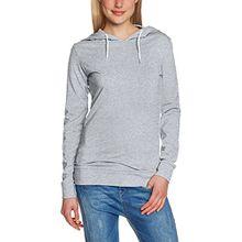 Urban Classics Damen Pullover Ladies Jersey Hoody grau (Grey) X-Large