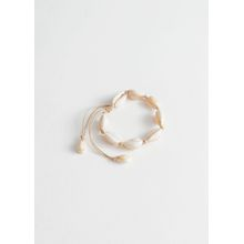 Adjustable Puka Shell Bracelet - White