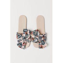 H & M - Pantoletten mit Schleife - Pink - Damen