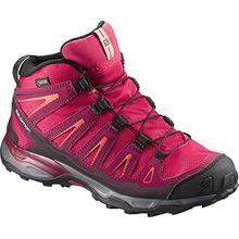 Salomon Unisex-Kinder X-Ultra Mid GTX J Trekking-& Wanderhalbschuhe, Pink (Virtual Pink/Beet Red/Living Coral 000), 36 EU