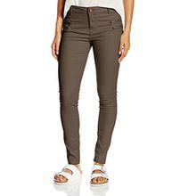 Noisy may Damen Skinny Hose Fame Nw Sup.sl Zip Pants Pi333 Clr - nmn, Braun (Chocolate Chip), M/L