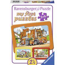 Ravensburger my first puzzles - Rahmenpuzzle: Müllabfuhr, Krankenwagen, Abschleppwagen