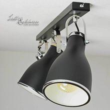 Elegante Deckenleuchte in Schwarz 3x E27 bis zu 60 Watt 230V aus Metall & schwenkbar Küche Esszimmer Lampe Leuchten Beleuchtung innen
