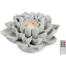 """LED Brunnen """"Lotos"""" mit Fernbedienung grau"""