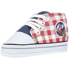 Playshoes Turnschuhe Sneaker Kariert 121540, Unisex Baby Krabbelschuhe, Mehrfarbig (Marine 11), 16 EU