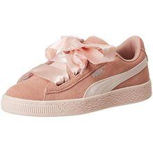 Puma Mädchen Suede Heart Jewel PS Sneaker, Beige (Peach Beige-Pearl), 34 EU