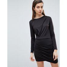 Ivyrevel - Langärmliges Jersey-Kleid mit Rüschen - Schwarz