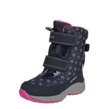GEOX Boots navy / grau / pink