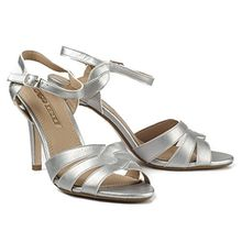 Buffalo Damen Sandaletten High Heel Sandalen Pumps 314668 (36, Silber)