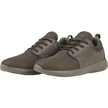 Urban Classics Damen und Herren Light Runner Shoe, Low-Top Sneaker für Damen und Herren, Sportschuhe mit Schnürung, Dark Olive, Größe 41