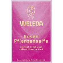Weleda Körperpflege Hand- und Fußpflege Rosen Pflanzenseife 100 g