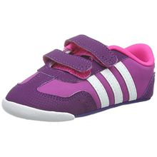 adidas Unisex Baby Dino Crib Sneaker, Violett/Weiß/Rosa (Rosdes/Ftwbla/Rosimp), 18 EU