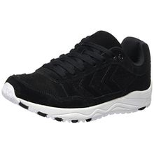 Hummel Unisex-Erwachsene 3S Suede Sneaker, Schwarz (Black), 42 EU