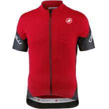 CASTELLI Fahrradtrikot 'Entrata' rot / schwarz / weiß